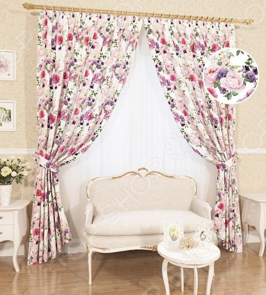 Комплект штор Сирень «Юдиана» комплект штор с покрывалом для спальни в москве