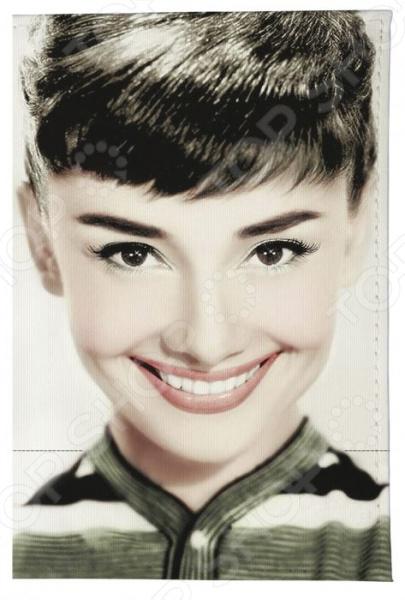 Обложка для паспорта кожаная Mitya Veselkov «Одри улыбается в цвете» обложка для паспорта mitya veselkov одри улыбается
