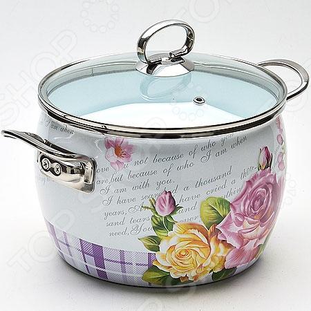 Кастрюля с крышкой Mayer&Boch «Букет цветов» букет из цветов жасмина