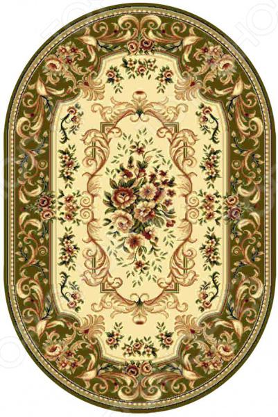 Ковер овальный Kamalak tekstil «Райский сад». Цвет: зеленый овальный купить ковры ковер super vision 5412 bone овал 3на 5 метров
