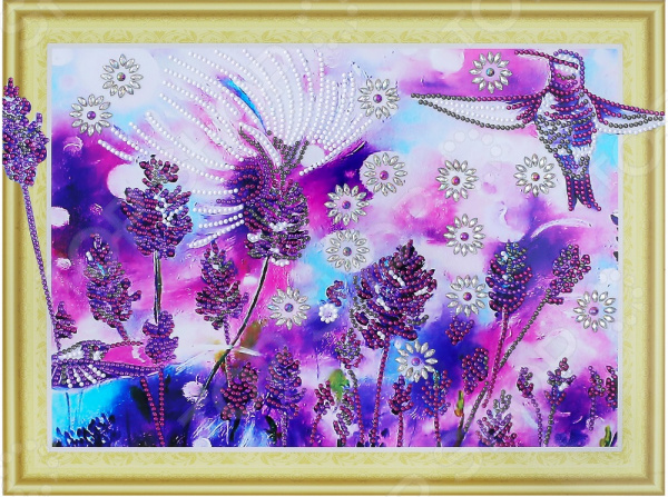 Набор для творчества «Алмазная мозаика». Рисунок: «Лавандовые колибри»