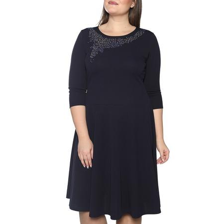 Купить Платье Blagof «Сияние сердца» с мерцающим декором. Цвет: темно-синий