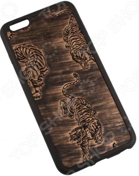 Чехол для iPhone 6/6S Plus Old «Тигры на меди»