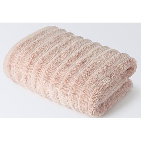 Купить Полотенце махровое Ecotex «Лайфстайл». Цвет: светло-розовый