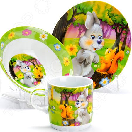 Набор посуды для детей «Зайка» LR-27331