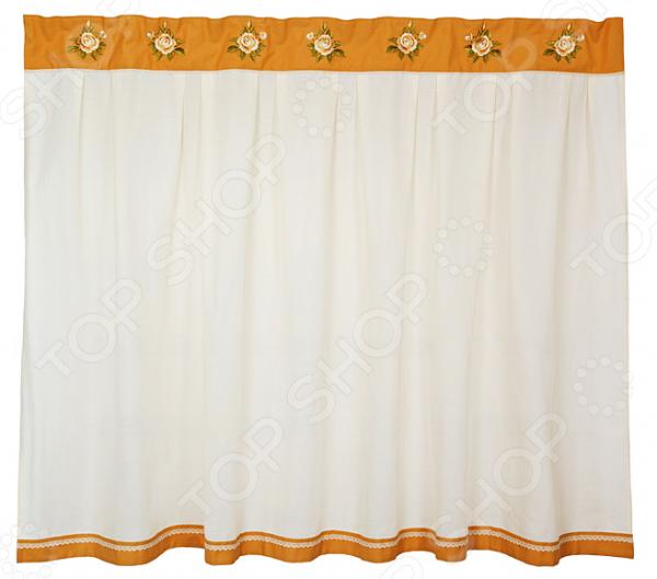 Штора кухонная «Корейская роза» 850-812-13 полотенце для кухни арти м корейская роза