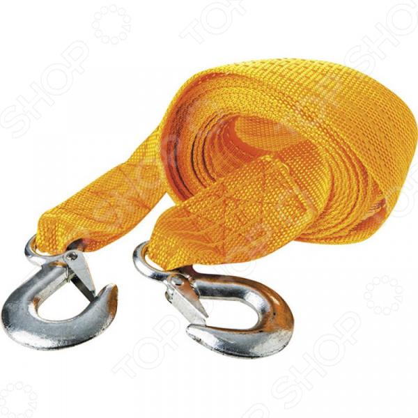 Трос буксировочный Zipower Tow Rope 3 ton nylon heavy duty car tow rope yellow 3m length