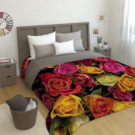 Купить Фотопокрывало стеганое Сирень «Букет роз»