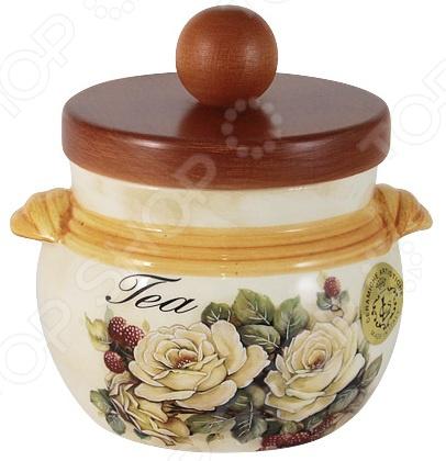 Банка для сыпучих продуктов LCS «Роза и малина. Чай» imari банка для сыпучих продуктов магнолия