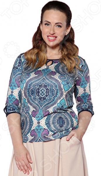 Блузка Milana Style «Арабеска». Цвет: синий юбка milana style цвет черный