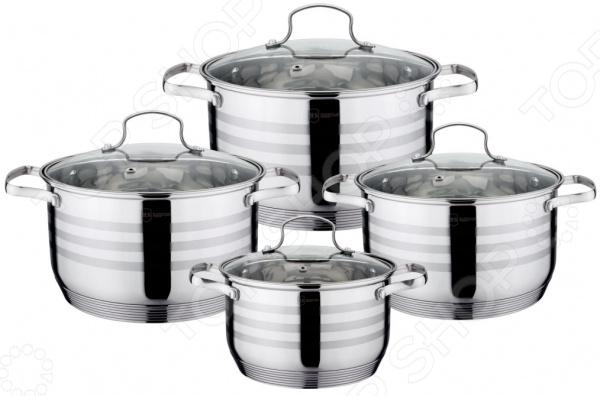 Набор посуды для готовки Rainstahl RS-1955-08 набор кухонной посуды rainstahl rs 1086