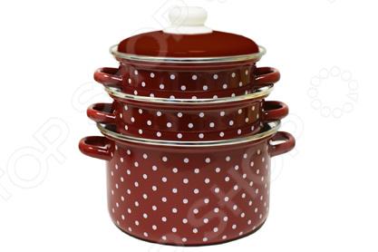 Набор посуды Эмаль «Горох» 2-3144/6М