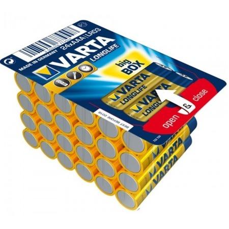 Купить Комплект батареек VARTA Longlife AAA. Количество предметов: 24 шт