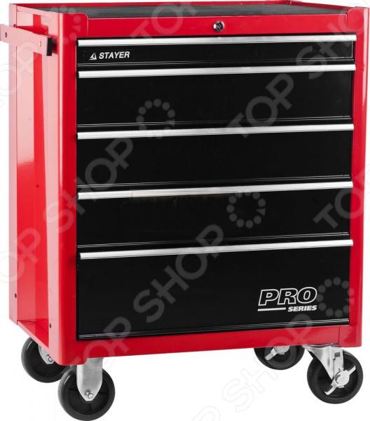 Тележка инструментальная Stayer Pro 38907-5 тележка инструментальная keter с 5 ящиками drawer 2 3 22 38380 5