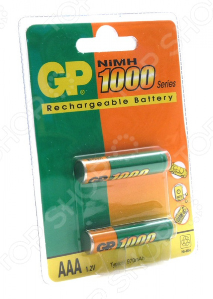 Набор батареек аккумуляторных GP Batteries 100AAAHC-2DECRC2 набор батареек gp batteries cr2025