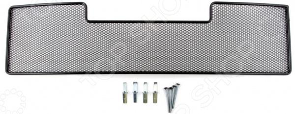 цена на Сетка на бампер внешняя Arbori для Mitsubishi Pajero IV, 2008-2011. Цвет: черный