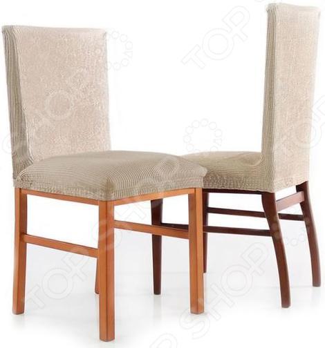 Zakazat.ru: Комплект натяжных чехлов на стул Еврочехол «Рустика». Цвет: белый
