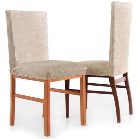 Комплект натяжных чехлов на стул Еврочехол «Рустика». Цвет: белый