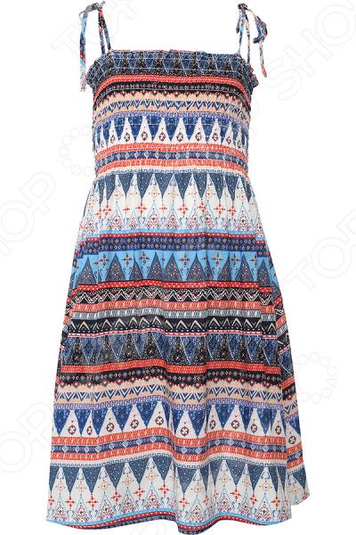 Платье для девочки Finn Flare KS16-71004. Цвет: персиковый