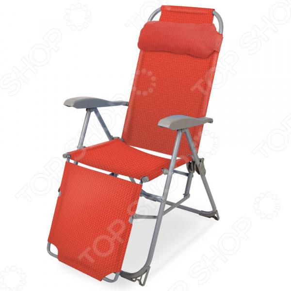 Кресло-шезлонг складное с подножкой Ника К3/ГР. В ассортименте