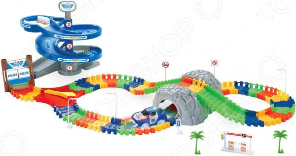 Конструктор - гоночный трек 1 Toy «Полиция»