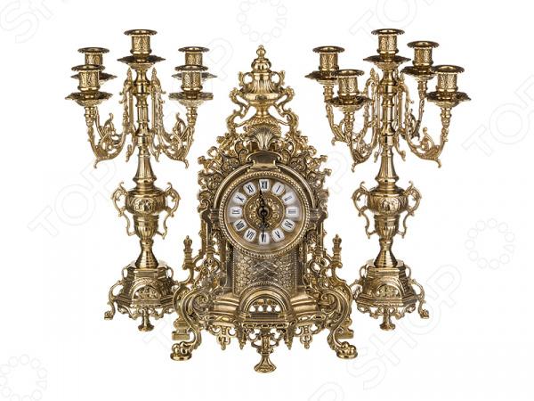 Набор: часы настольные и подсвечники Alberti Livio 646-002 купить часы invicta в украине доставка из сша