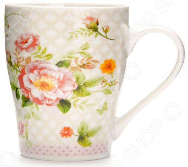 Кружка Loraine «Цветы» 26581-1