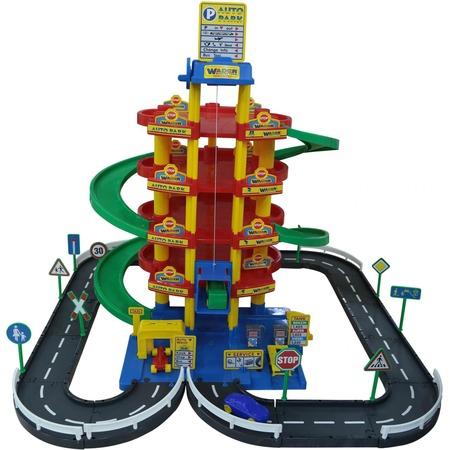 Купить Набор игровой для мальчика Wader «Паркинг 5-уровневый с дорогой и автомобилями»