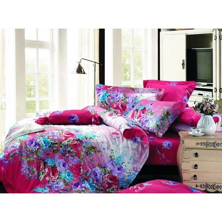 Купить Комплект постельного белья Guten Morgen 649. Цвет: фуксия, голубой. Семейный