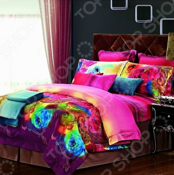 Комплект постельного белья «Акварель». 2-спальный для спальни