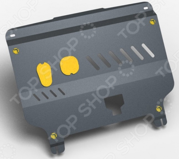 Комплект: защита картера и крепеж NLZ 4 мм для Hyundai Solaris / KIA Rio, 2011-2017 комплект защита картера и крепеж novline autofamily hyundai solaris 2011 kia rio 2011 1 4 1 6 бензин мкпп акпп