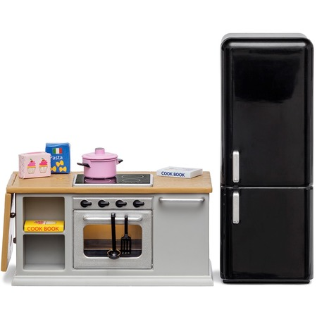 Купить Набор мебели для куклы Lundby «Кухонный остров и холодильник»