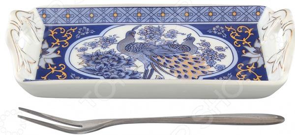 Тарелка для лимона Elan Gallery «Павлин синий» блюда elan gallery блюдо для запекания павлин синий