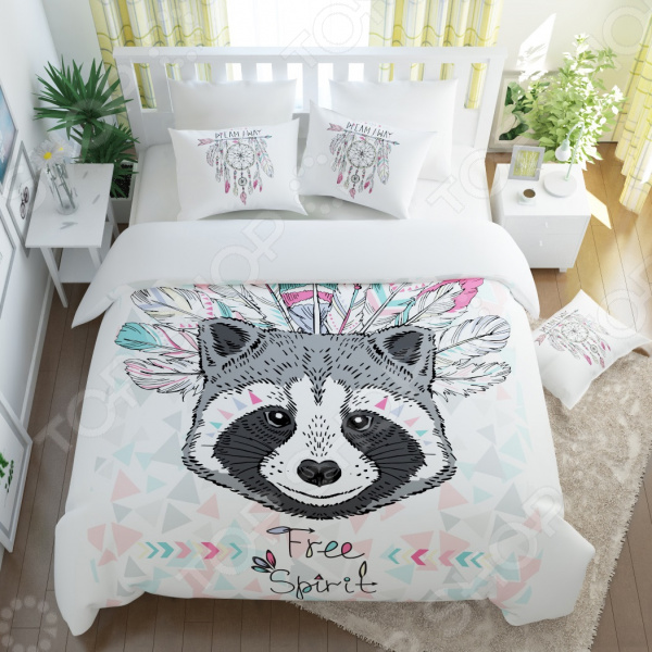 Комплект постельного белья Сирень «Ловец снов»