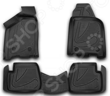 Комплект 3D ковриков в салон автомобиля Novline-Autofamily LADA Samara 2004