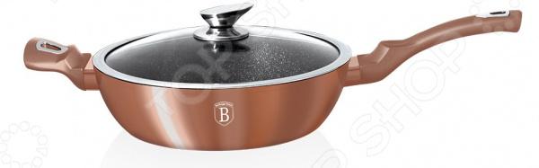 Сковорода с крышкой Berlinger Haus Rosegold и дополнительной ручкой сковорода berlinger haus ebony rosewood