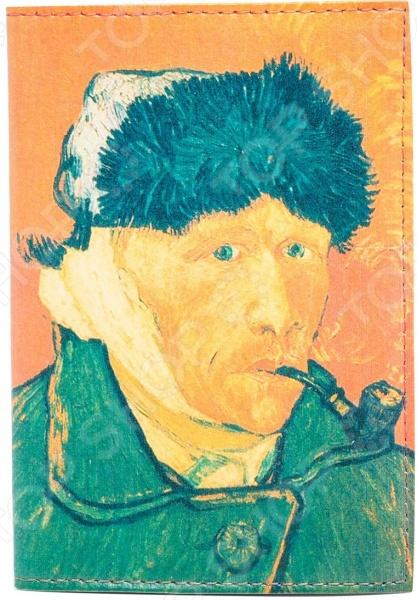 Обложка для автодокументов кожаная Mitya Veselkov «Ван Гог. Портрет»