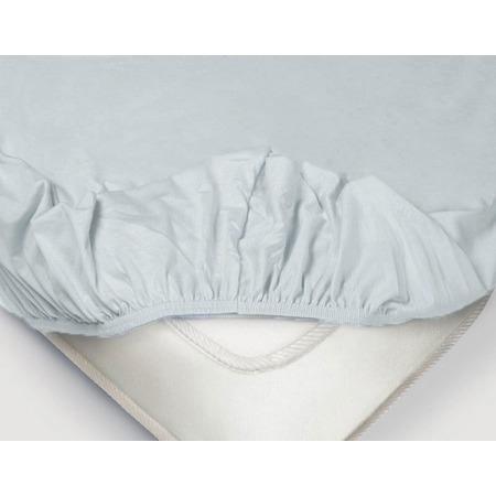 Купить Простыня на резинке Ecotex «Поплин-Комфорт». Цвет: голубой