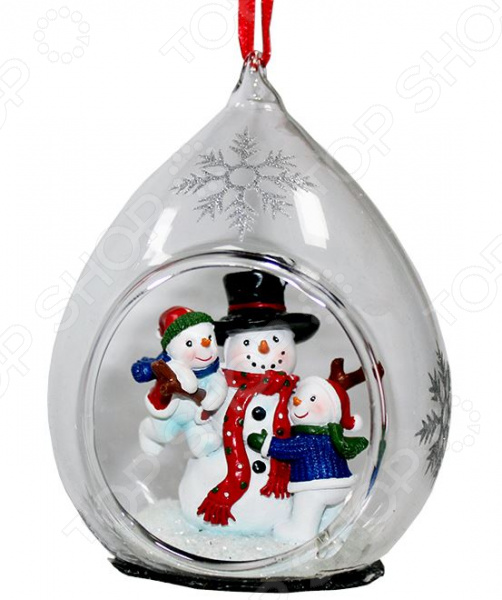 Елочное украшение Crystal Deco «Семья Снеговиков»