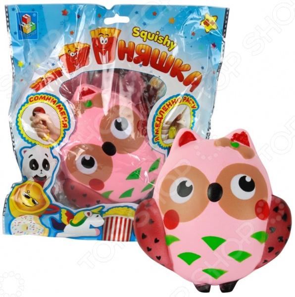 Игрушка-антистресс 1 Toy «Мммняшка сквиши: Сова» сонная сова игрушка вязанная