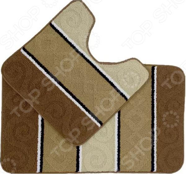 Набор ковриков для ванной комнаты Kamalak textil УКВ-1033