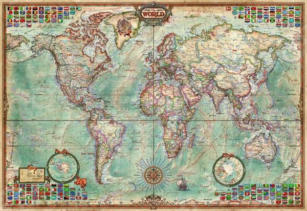 Пазл 1000 элементов Educa «Политическая карта мира» пазлы educa пазл нью йорк коллаж 1000 элементов