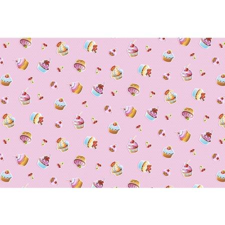 Купить Полотенце банное вафельное ТексДизайн «Сластена и пирожные»