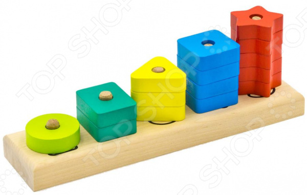 Zakazat.ru: Игрушка-пирамидка Alatoys «Счеты. Геометрические фигуры»