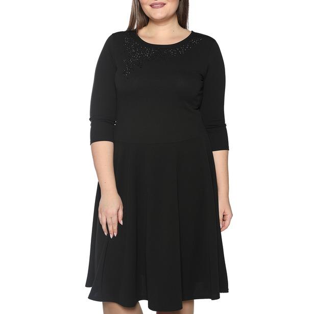 фото Платье Blagof «Сияние сердца». Цвет: черный. Размер одежды: 52