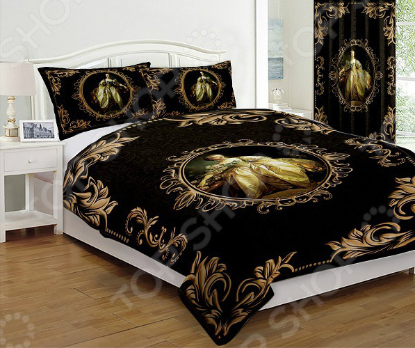 Комплект постельного белья «Мария Антуанетта Голд». 2-спальный