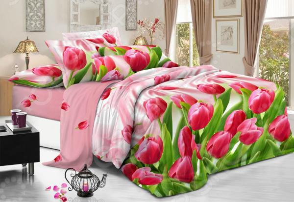 Комплект постельного белья Flora «Любимые тюльпаны». 1,5-спальный