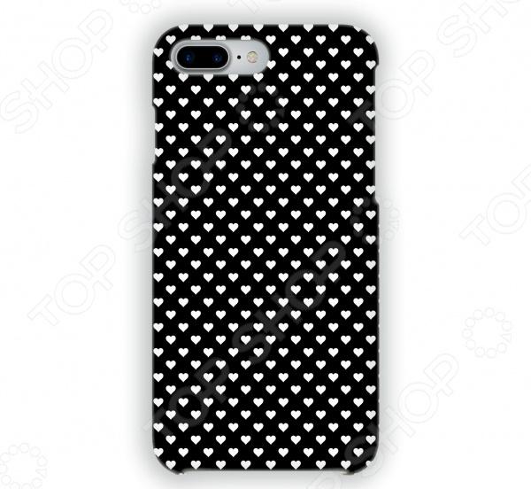 Чехол для iPhone 7 Plus Mitya Veselkov «Белые сердечки на черном» стоимость