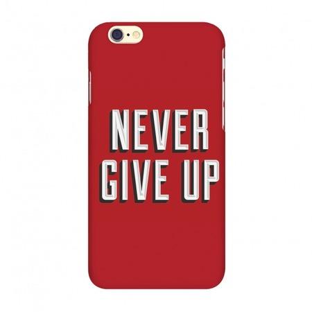 Купить Чехол для IPhone 6 Mitya Veselkov «Never give up». Цвет фона: красный