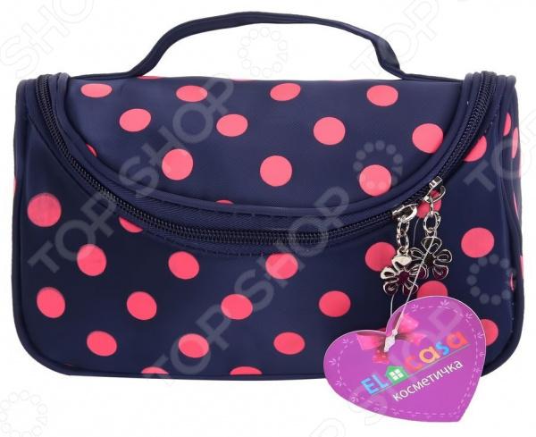 Косметичка-сумочка EL Casa с розовым горошком. Размер: 20х9х13 см el casa косметичка сумочка розовая с узором